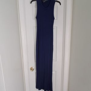 Lulu's navy maxi dress sz small